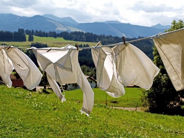 白い洗濯物