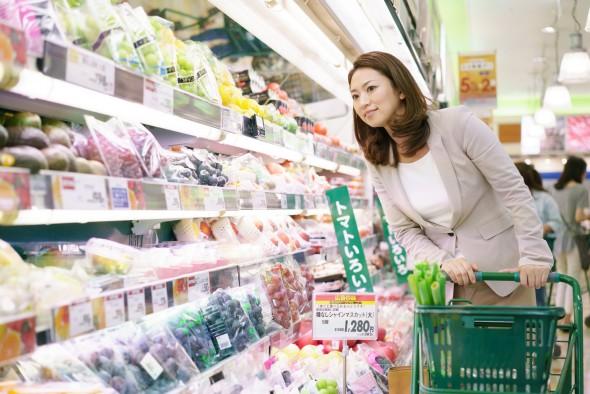 スーパー買い物