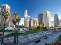 アメリカ、ロサンゼルスの街並み