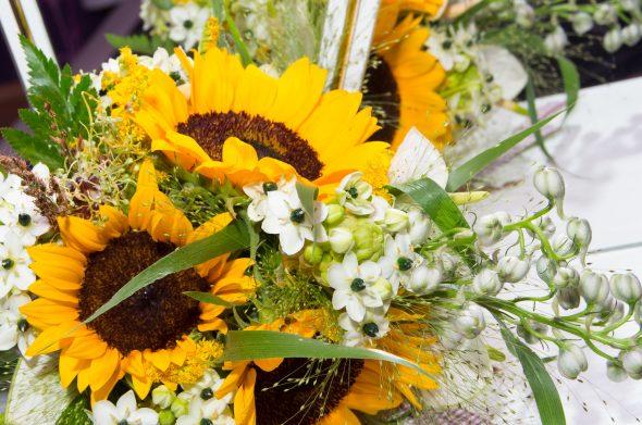 結婚式の装花(ひまわり)