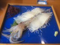 佐賀県呼子「玄海」のイカの活き造り
